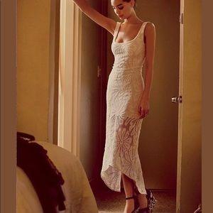 JENS PIRATE BOOTY *Casablanca pink lace maxi dress
